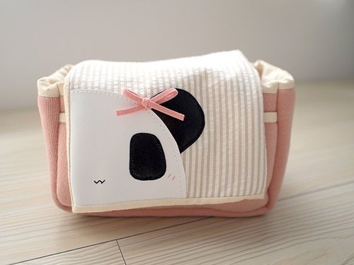 hairmo. Panda sister camera bag (pink) zip portable models - can be installed EP.GF.NEX