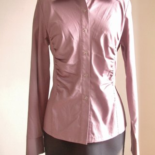 Plain long-sleeved shirt - purple