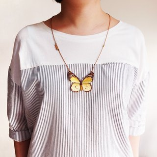 Embroidery Butterfly Necklace / Plain Tiger Butterfly