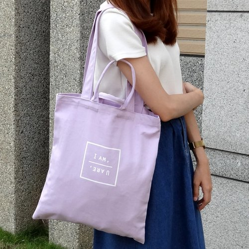 ≡ Little's ≡] [IAM UARE dual portable shoulder canvas bag xPURPLE * purple X X Christmas gift exchange