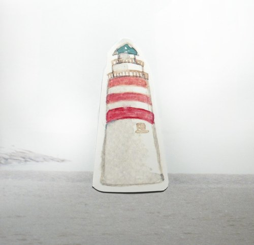 Travel lighthouse watercolor sticker