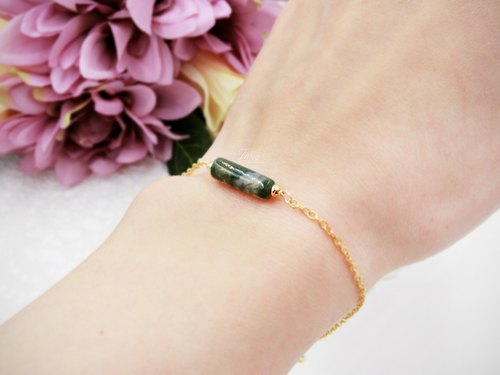 ❖FANG y [point crystal] aquatic agate series bracelet