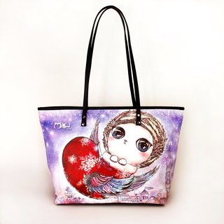 Meow good water repellent painting Tote Flying Cat