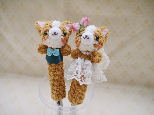 Pen wedding engagement marriage wedding wedding supplies small objects Corgi models cute short white silk