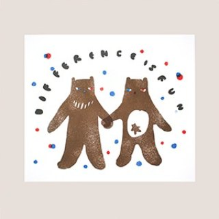 Bear holding hands posters