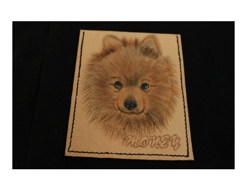 Exclusive custom pet Pomeranian dog portrait black canvas leather shoulder bag (made Valentine, birthday gifts)