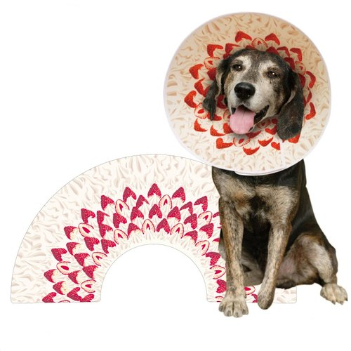 Elizabeth pet collars (caps) / big strawberry cake (L) neck circumference of about 48 cm ± 5