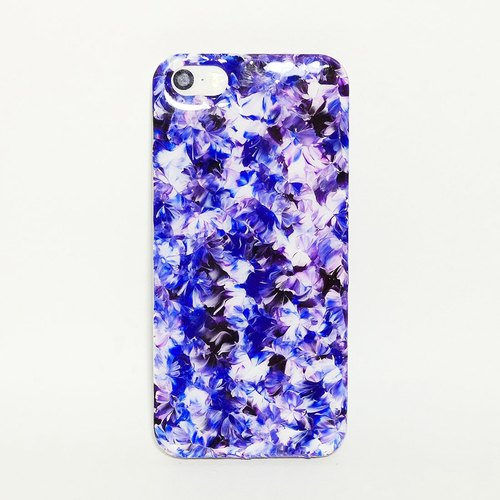 Pastoral series of mysterious purple mash ll ll porcelain hand-painted oil painting style Phone Case