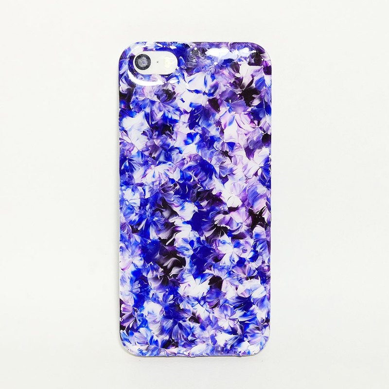 Pastoral series ll blue and white porcelain mysterious purple ll hand-painted oil painting wind mobile phone shell