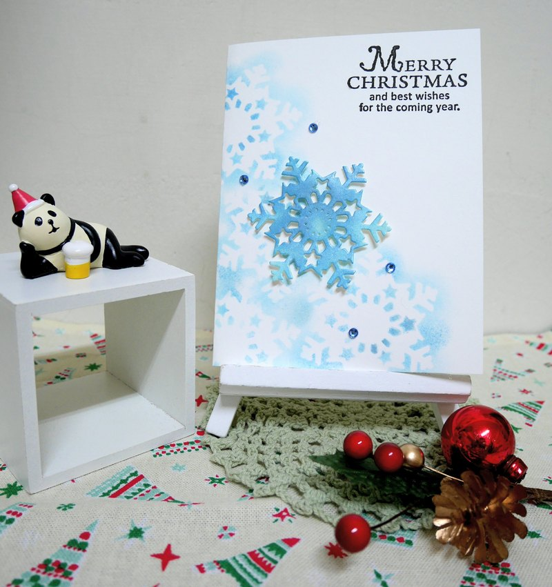 Christmas cards (greeting card) - handmade cards Starwish - Blue
