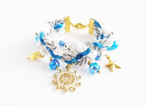 Sailor blue braided bracelet