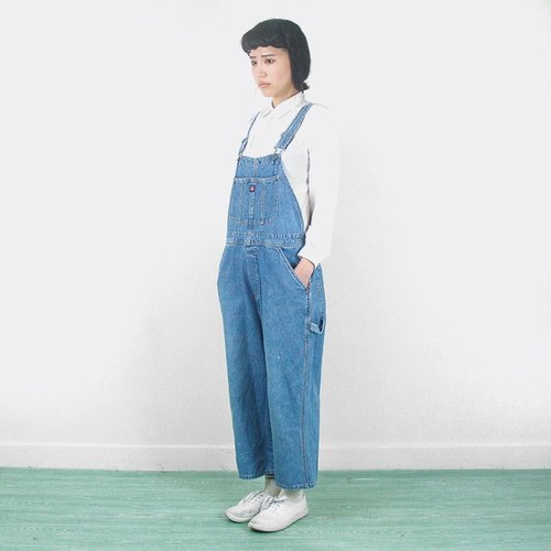 Front pockets vintage denim sling nine points trousers AG9010