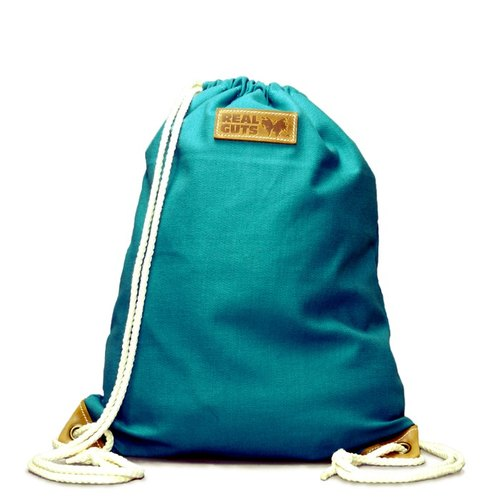 [REAL GUTS * lightweight travel backpack] - Turkish Blue (attached inside the bag)