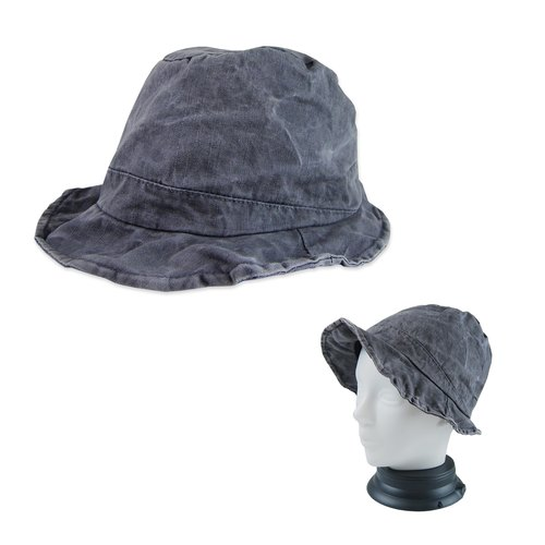 A‧PRANK: DOLLY :: VINTAGE retro gray three-dimensional shape of the wire can be recessed lotus hat cap / hat