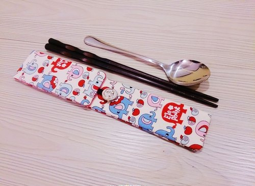 Tableware double pouch bags chopsticks chopsticks cover section elephant