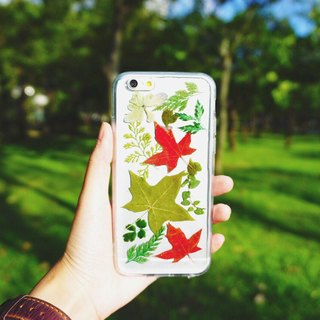 [Changes Throughout the Year] Pressed Flowers Phone Cases - Maple Collection for iphone 5/5s/SE/6/6s/6 plus/6s plus/7/7plus