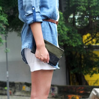 Indigo Denim Cargo Accessory pouch bag
