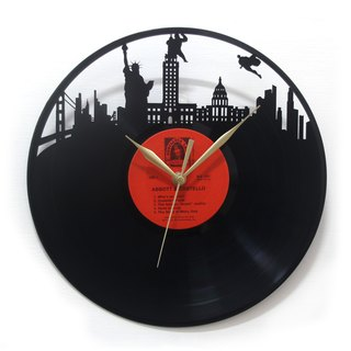 [Time traveler 1888] vinyl clock. American Hero