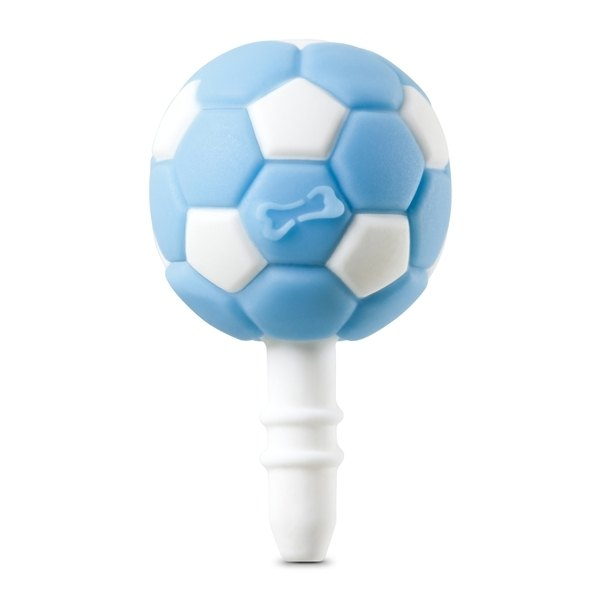 Football DIY headphone plug (blue white)
