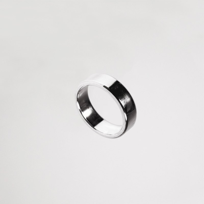 Narrow face silver rings for men and women