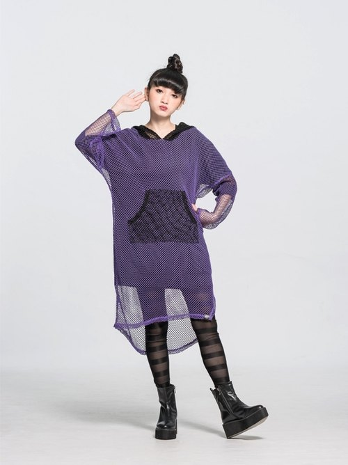 Corsage bundle mesh cap T (purple) Taiwan design