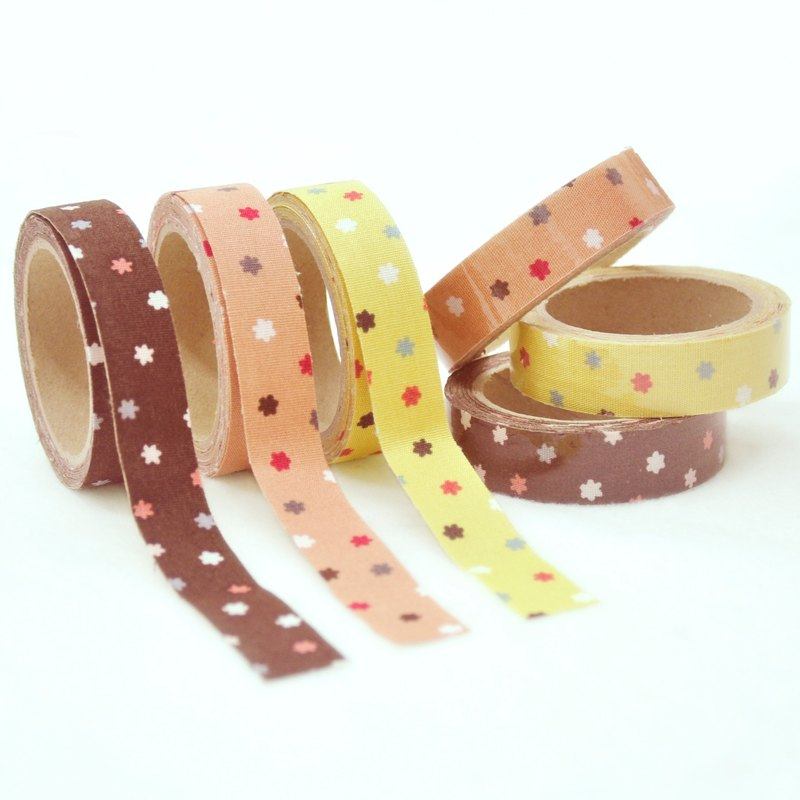 Cloth Tape - He Pingjin Sugar (Star Sugar) (Cherry Powder/Yellow/Coffee)