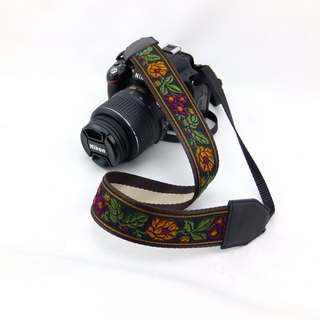 Camera strap can print personalized custom leather stitching national wind embroidery pattern 019