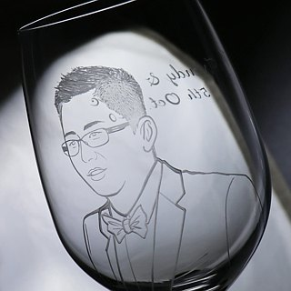 (One pair price) 425cc [MSA] Portrait married cup (Realistic Version) pet portrait engraving glass of red wine Valentine's Day group wedding gift Tanabata custom