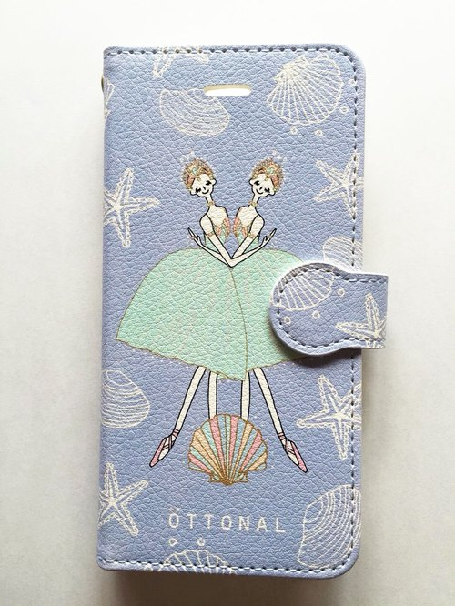 Oceans and Pearls Book Type Case (for iPhone)
