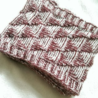 Lan wool scarves (wine red and white)
