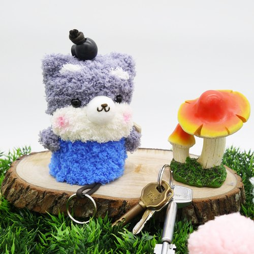 Marshmallow animals Wallets - in key cases (Schnauzer)
