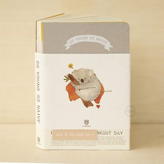 Shine x nine mountains 'was small and innocent' special edition notebook hand book - koala bear