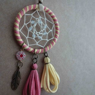 ~ M + Bear ~ Dreamcatcher Dreamcatcher (key ring / color powder yellow)
