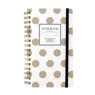 Japan [LABCLIP] Svelte Series Slim note Notebook / Gold