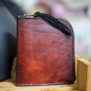 Leather wallet handmade leather lounger