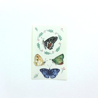 Sticker black butterfly