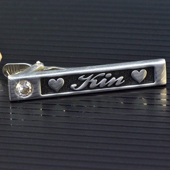Customized .925 sterling silver jewelry TIA00001- Tie clip
