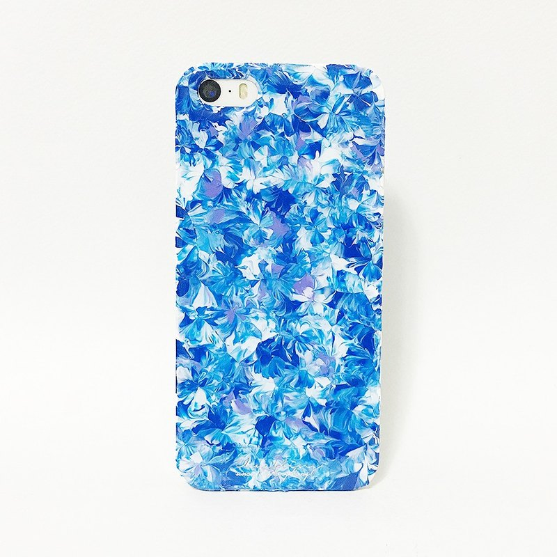 Pastoral series ll sky blue lavender ll hand-painted oil painting wind mobile phone shell