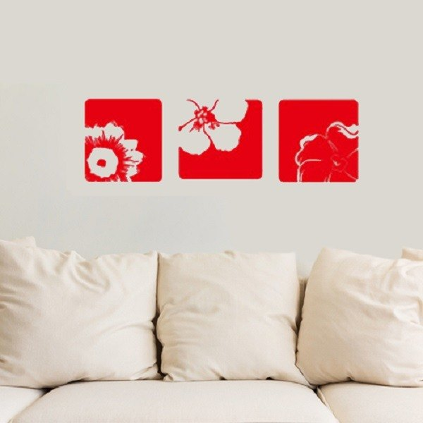 """Smart Design"" Creative Seamless wall stickers Rose Story ◆ 8 color options"