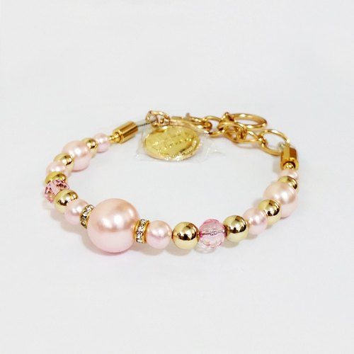 Ella Wang Design jewelry pearl necklace - pink dog collar Fashion Handmade Size: L / XL