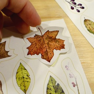 15 'fall [autumn plant sticker single pcs]