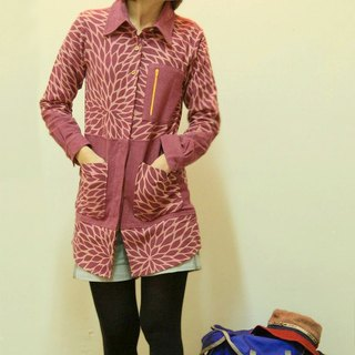 "EARTH.er  │""PINKY LEAF""長襯衫 ● PINKY LEAF Female Long Shirt│ :: 香港原創設計品牌 ::"