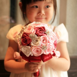 Bouquet of roses jewelry jewelry [series] Little Rose / bridesmaid bouquet / flower girl