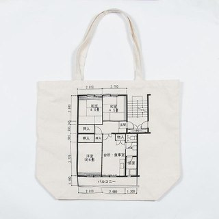 Japanese floor planning canvas tote bag Tcollector
