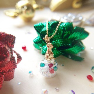 Rabbit necklace / design of Christmas