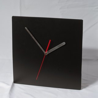 Minimalist style - round / square 100% leather, leather desk clock mute clock 29 cm -Mark Honor