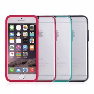SW iPhone 6 special color border transparent back cover - black / red / green 47277795446462