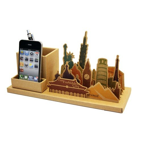 Stationery-Famous Building Yuppie Stationery Set - Top Buildings || Around the world on the table.