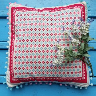 Nordic style changes color hair balls, pink, light blue floral pattern pillow / pillow