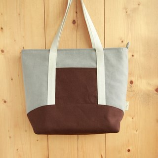 [Early spring shoulder bag] washed canvas coffee